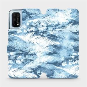 Flipové pouzdro Mobiwear na mobil Realme 7 Pro - M058S Světle modrá horizontální pírka