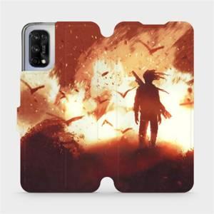 Flipové pouzdro Mobiwear na mobil Realme 7 5G - MA06S Postava v ohni