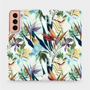Flipové pouzdro Mobiwear na mobil Samsung Galaxy S21 5G - M071P Flóra