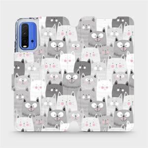 Flipové pouzdro Mobiwear na mobil Xiaomi Redmi 9T - M099P Kočičky