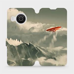 Flip pouzdro Mobiwear na mobil Nokia X20 - MA03P Oranžové letadlo v horách