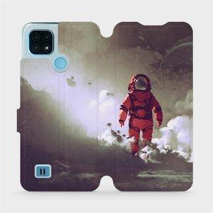 Flip pouzdro Mobiwear na mobil Realme C21 - MA07S Týpek ve skafandru