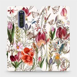 Flip pouzdro Mobiwear na mobil Sony Xperia 1 - MP01S Rozkvetlá louka