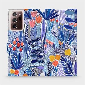 Flip pouzdro Mobiwear na mobil Samsung Galaxy Note 20 Ultra - MP03P Modrá květena
