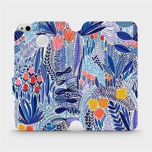 Flip pouzdro Mobiwear na mobil Xiaomi Redmi 4X - MP03P Modrá květena