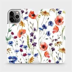 Flip pouzdro Mobiwear na mobil Apple iPhone 12 Pro - MP04S Luční kvítí