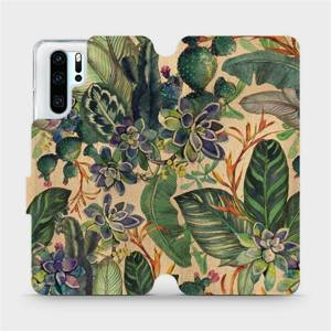 Flip pouzdro Mobiwear na mobil Huawei P30 Pro - VP05S Sukulenty