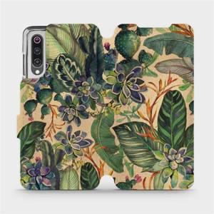 Flip pouzdro Mobiwear na mobil Xiaomi Mi 9 - VP05S Sukulenty