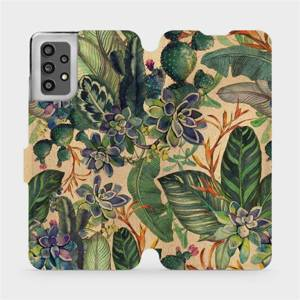Flip pouzdro Mobiwear na mobil Samsung Galaxy A32 LTE - VP05S Sukulenty