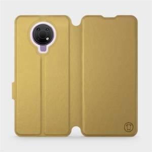 Flip pouzdro Mobiwear na mobil Nokia G10 v provedení C_GOS Gold&Gray s šedým vnitřkem