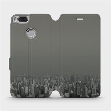 Flipové pouzdro Mobiwear na mobil Xiaomi Mi A1 - V063P Město v šedém hávu