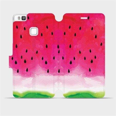 Flipové pouzdro Mobiwear na mobil Huawei P9 Lite - V086S Melounek