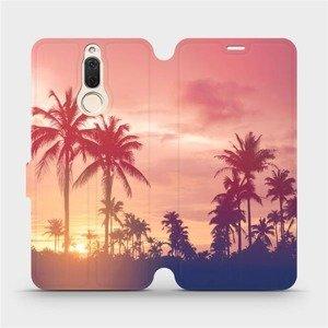 Flipové pouzdro Mobiwear na mobil Huawei Mate 10 Lite - M134P Palmy a růžová obloha
