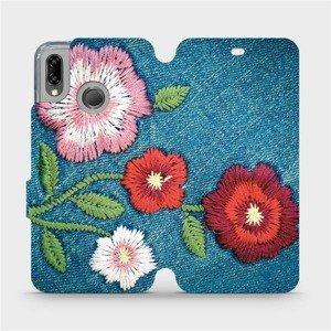 Flipové pouzdro Mobiwear na mobil Huawei P20 Lite - MD05P Džínové květy
