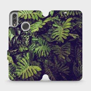 Flipové pouzdro Mobiwear na mobil Honor 8X - V136P Zelená stěna z listů