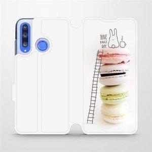 Flipové pouzdro Mobiwear na mobil Honor 20 Lite - M090P Makronky - have a nice day