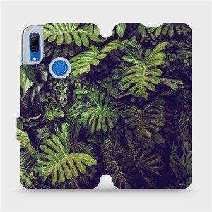 Flipové pouzdro Mobiwear na mobil Huawei P Smart Z - V136P Zelená stěna z listů