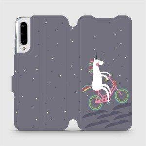 Flipové pouzdro Mobiwear na mobil Xiaomi Mi A3 - V024P Jednorožec na kole