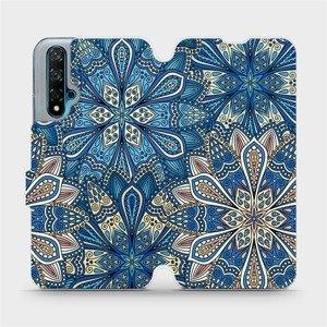 Flipové pouzdro Mobiwear na mobil Huawei Nova 5T - V108P Modré mandala květy
