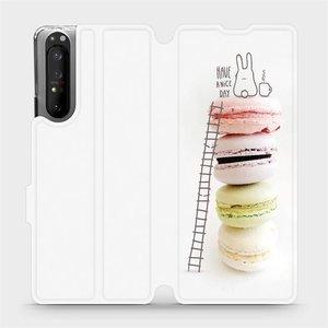 Flipové pouzdro Mobiwear na mobil Sony Xperia 1 II - M090P Makronky - have a nice day