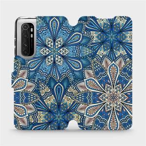 Flipové pouzdro Mobiwear na mobil Xiaomi Mi Note 10 Lite - V108P Modré mandala květy