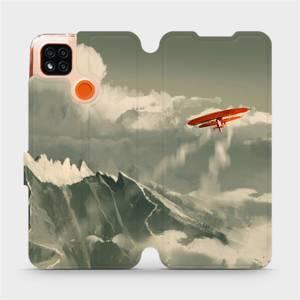 Flipové pouzdro Mobiwear na mobil Xiaomi Redmi 9C - MA03P Oranžové letadlo v horách