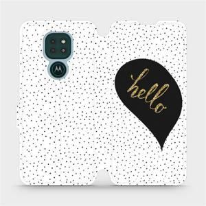 Flipové pouzdro Mobiwear na mobil Motorola Moto G9 Play - M013P Golden hello