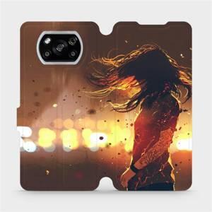 Flipové pouzdro Mobiwear na mobil Xiaomi POCO X3 NFC - MA02S Tetovaná dívka