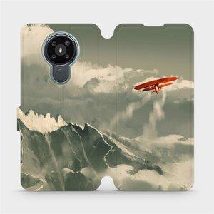 Flipové pouzdro Mobiwear na mobil Nokia 3.4 - MA03P Oranžové letadlo v horách