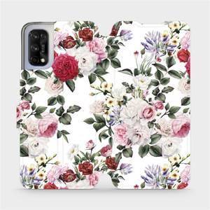 Flipové pouzdro Mobiwear na mobil Realme 7 5G - MD01S Růže na bílé