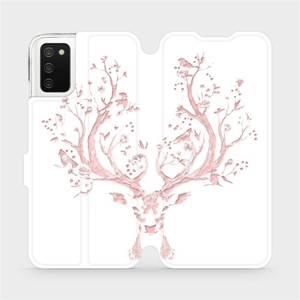 Flipové pouzdro Mobiwear na mobil Samsung Galaxy A02s - M007S Růžový jelínek