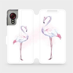 Flipové pouzdro Mobiwear na mobil Samsung Galaxy Xcover 5 - M005S Plameňáci