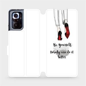 Flipové pouzdro Mobiwear na mobil Xiaomi Redmi Note 10 Pro - M046P Be yourself