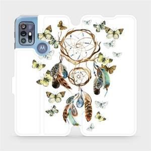 Flipové pouzdro Mobiwear na mobil Motorola Moto G20 - M001P Lapač a motýlci