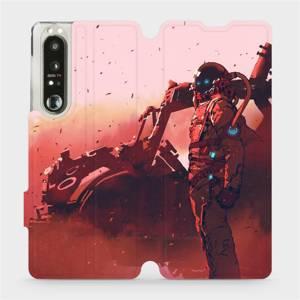 Flip pouzdro Mobiwear na mobil Sony Xperia 1 III - MA09S Průzkumník s červeným vozítkem