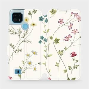 Flip pouzdro Mobiwear na mobil Realme C21 - MD03S Tenké rostlinky s květy