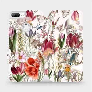 Flip pouzdro Mobiwear na mobil Honor 9 Lite - MP01S Rozkvetlá louka