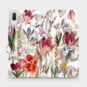 Flip pouzdro Mobiwear na mobil Sony Xperia L3 - MP01S Rozkvetlá louka