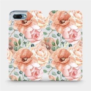 Flip pouzdro Mobiwear na mobil Honor 10 - MP02S Pastelové květy