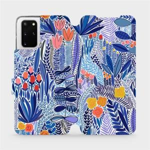 Flip pouzdro Mobiwear na mobil Samsung Galaxy S20 Plus - MP03P Modrá květena