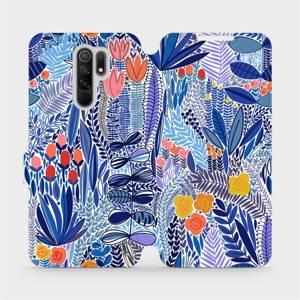 Flip pouzdro Mobiwear na mobil Xiaomi Redmi 9 - MP03P Modrá květena
