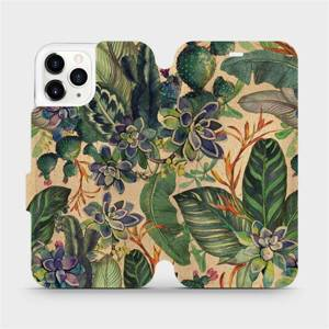 Flip pouzdro Mobiwear na mobil Apple iPhone 11 Pro - VP05S Sukulenty