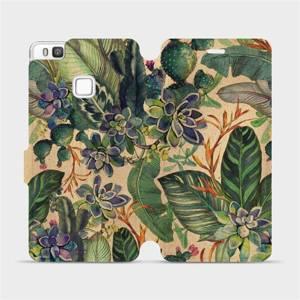 Flip pouzdro Mobiwear na mobil Huawei P9 Lite - VP05S Sukulenty