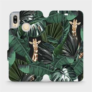 Flip pouzdro Mobiwear na mobil Huawei P20 Lite - VP06P Žirafky