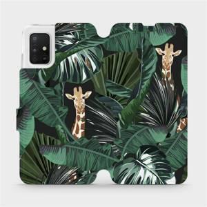 Flip pouzdro Mobiwear na mobil Samsung Galaxy A51 - VP06P Žirafky