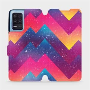 Flip pouzdro Mobiwear na mobil Realme 8 5G - V110S Barevné klikyháky