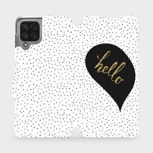 Flip pouzdro Mobiwear na mobil Samsung Galaxy M22 - M013P Golden hello