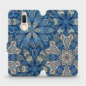 Flipové pouzdro Mobiwear na mobil Huawei Mate 10 Lite - V108P Modré mandala květy