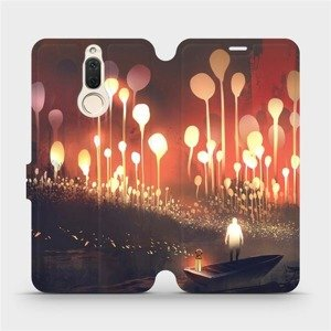 Flipové pouzdro Mobiwear na mobil Huawei Mate 10 Lite - VA01S Lampiony a muž v lodičce