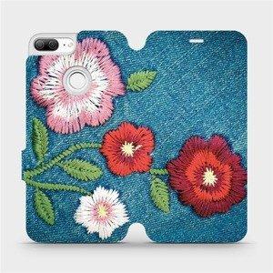 Flipové pouzdro Mobiwear na mobil Honor 9 Lite - MD05P Džínové květy